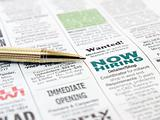 Pen on the newspaper
