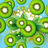 Seamless pattern with kiwi