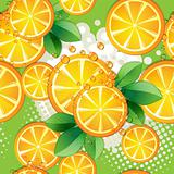 Seamless pattern with slice orange