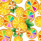 Pattern with slice orange