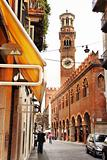 The tower Lamberti in Verona