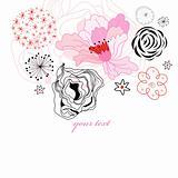 decorative floral postcard