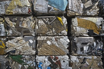 Crushed Scrap Metal for Recycling