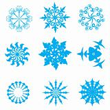 blue snowflakes