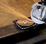 angular grinder cleaning data from hard drive