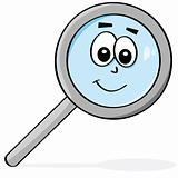 Happy magnifying glass