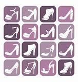 Fashion Shoes Icon Set