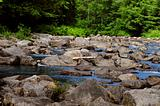 Rock-filled stream