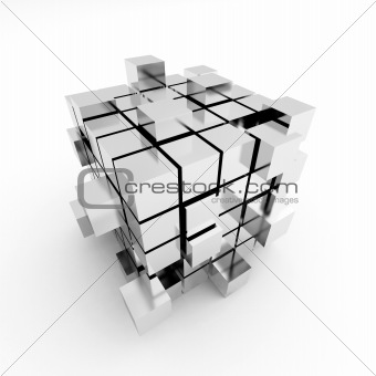 Abstract cube construction