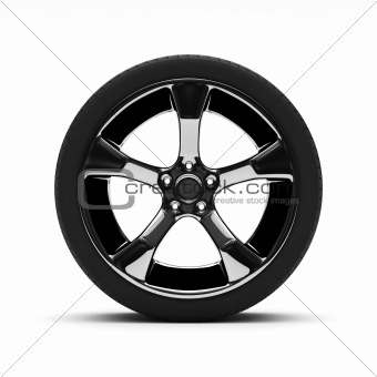 Chromed wheel with tires