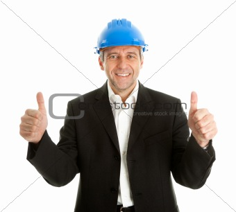 Portrait of successful architect
