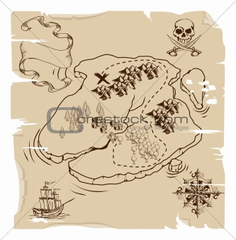 Ye Olde Pirate Treasure Map