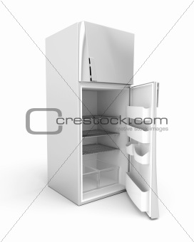 Silver modern fridge
