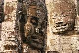 Giant face on Bayon temple in Angkor