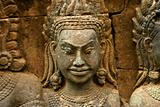 A Hindu deity bas-relief in Angkor