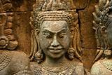 A Hindu deity bas-relief in Angkor