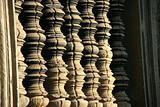 Stone columns in Ankgor Wat