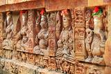 Religious bas-reliefs on a Hindu temple