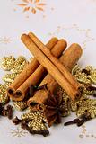 stick cinnamon, anise and cloves - spices Christmas