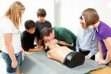 High School Health Class - CPR