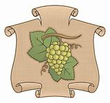 Grapes with scroll