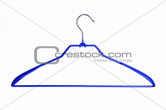 Blue clothes hanger