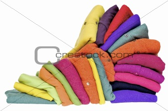 Colourful fall or winter cashmere or alpaca wool