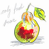 Illustration of pear