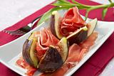 ham with fresh fig