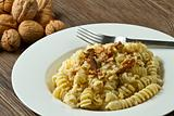 pasta with a walnut