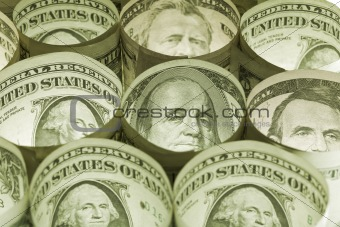Dollar bills money background