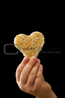 A piece of bread given with love