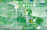 Euro banknotes closeup - time and money concept