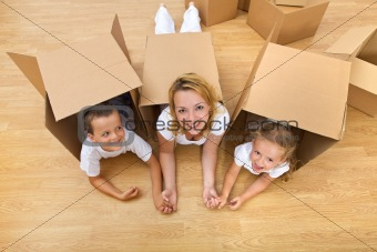 Unpacking in a new home