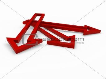 3d arrow red