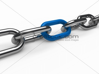 3d chain chrome blue