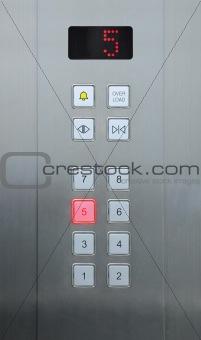 5 floor on elevator buttons