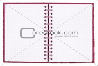 blank squared notebook