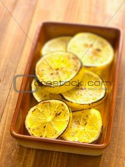 grilled lemon slices