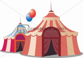 stylized circus tent
