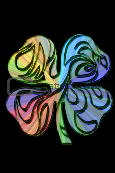 4 leaf clover psychedelic