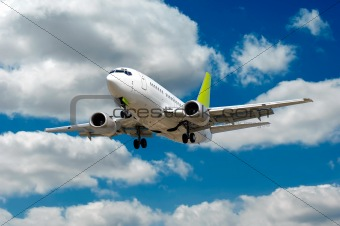 Airliner and clouds