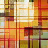 abstract lines and paint squares pattern