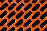 orange radiator grill