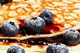 blueberries on pancakes jam