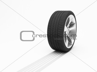 Wheel with tyre track
