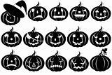 Halloween pumpkins silhouette