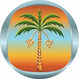 vector metal medallion with the date palm