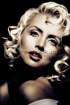 Marilyn Monroe imitation. Retro style
