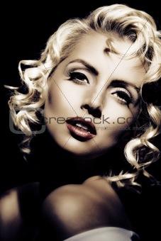 Marilyn Monroe imitation. Retro style